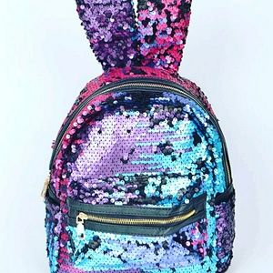 Handbags - Sequin backpack with ears